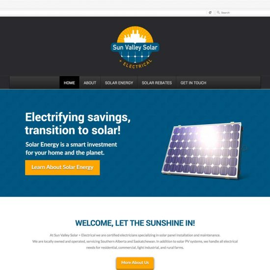 Sun Valley Solar & Electrical Website